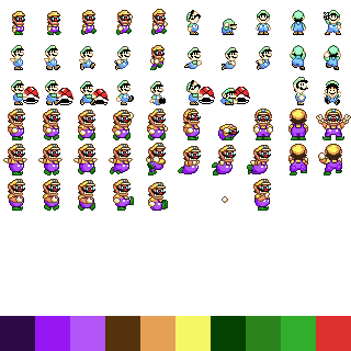 /><br /> <br /> Here's an example of a refactored sheet with a 32x32 grid.<br /> <br /> Because not all sprites are the same, you need to have an offset. we want the part of the sprite that will collide with other things to be smaller than the 32x32 size.<br /> <br /> size: {x: 12, y:26},<br /> offset: {x: 10, y: 6},<br /> <br /> Using this code, the collision box for the sprite is 12 by 26. Since the tile is 32 pixels to start, you offset the x value by 10. This is so there are 10 pixels, then the 12 pixels for the collision box, then the last 10 pixels are blank space - this has the effect of having the collision box be the 12 center pixels on the x axis. Since the sprite is standing on the bottom of the 32x32 grid space, the y offset is only 6 pixels: the remaining 26 pixels of height extend right to the edge of the 32 pixel vertical space.<br /> <br /> Hopefully that's not too confusing!			</div> 		</div> 	 	 <div class=